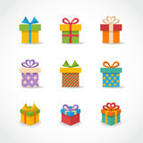 Vector Gift box colorful icons Stock Photo