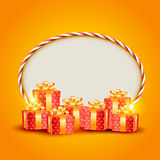 Vector gift box Royalty Free Stock Photography