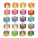 Vector gift box happy Royalty Free Stock Image