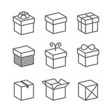Vector Gift Box Icons, Holiday Presents Stock Image