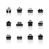 Vector gift box icons Royalty Free Stock Photography