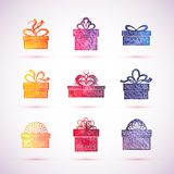 Vector gift box icons Royalty Free Stock Images