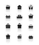 Vector gift box icons. Gift box icons, holiday presents, vector illustration vector illustration