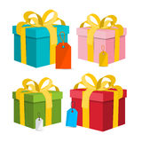 Vector Gift Box - Present Box Illustration. Royalty Free Stock Photo