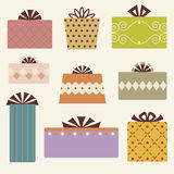 Vector gift box set. Vector illustration of gift box set Stock Images