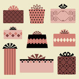 Vector gift box set design. Vector illustration of gift box set design Stock Image
