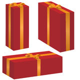 Vector gift box set. On the white background Stock Images