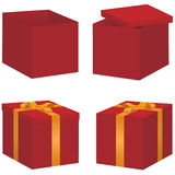 Vector gift box set Royalty Free Stock Photo