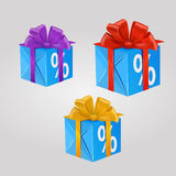 Vector gift box royalty free illustration