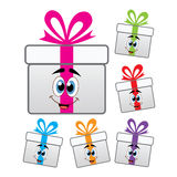 Vector gift box symbols Royalty Free Stock Photos