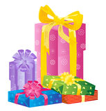 Vector gift boxes Royalty Free Stock Photo