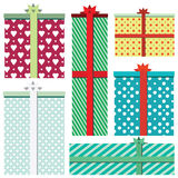 Vector gift boxes icons isolated on white background Stock Photography