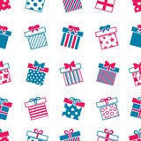 Vector gift boxes seamless pattern Stock Images