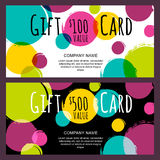 Vector gift card, abstract watercolor blots, stains, splashes ba Stock Photos
