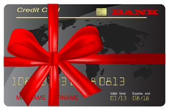 Vector of gift card (as present) Stock Photography