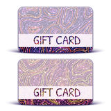 Vector Gift Card with brightly pattern on Royalty Free Stock Images