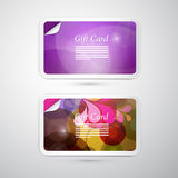 Vector Gift Card Set Royalty Free Stock Photography
