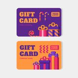 Vector gift cards. stock illustration