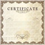 Vector gift certificate for design Royalty Free Stock Image