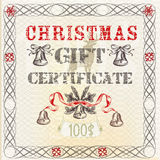 Vector gift certificate in vintage grunge style Stock Photography