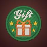 Vector gift fabric badge Stock Image