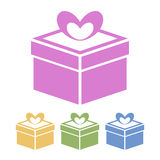 Vector gift icon Stock Photos