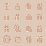 Vector gift icon set Royalty Free Stock Photo
