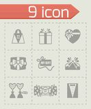 Vector Gift icon set Royalty Free Stock Photography