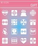 Vector Gift icon set Royalty Free Stock Photo