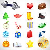 Vector gift icons. Royalty Free Stock Image
