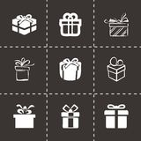 Vector gift  icons set Stock Images