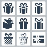 Vector gift/present icons set Royalty Free Stock Images