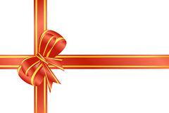 Vector gift ribbon Stock Photography