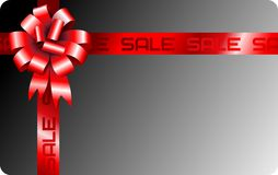 Vector gift ribbon card stock illustration