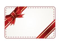 Vector gift tag. On white background Royalty Free Stock Image