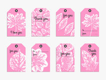 Vector gift  tag set Stock Image