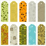 Vector gift tags and bookmarks… Royalty Free Stock Image