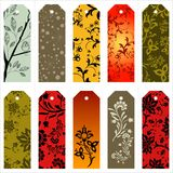 Vector gift tags and bookmarks… Royalty Free Stock Images