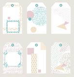 Vector gift tags Royalty Free Stock Images