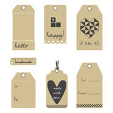 Vector gift tags or labels set Royalty Free Stock Photos