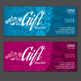 Vector gift voucher certificate coupon Royalty Free Stock Photos