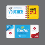 Vector gift voucher coupon template design. paper label frame mo Stock Images