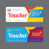 Vector gift voucher coupon template design. paper label frame mo Royalty Free Stock Photography