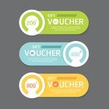 Vector gift voucher coupon template design. paper label frame mo stock illustration