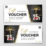 Vector gift voucher template for department stores, business. Abstract vector background. Universal flyer for business stock image