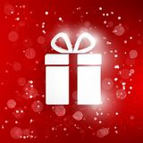 Vector gift web icon Royalty Free Stock Image