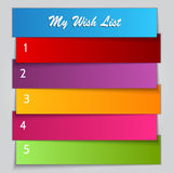 Vector Gift Wish List template Stock Photo