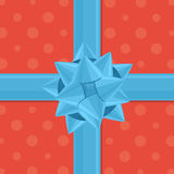 Vector gift wrapping with bow. Vector illustration in eps10 Royalty Free Stock Photos