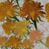 Vector Ginger Flowers Modelo inconsútil Utilice los materiales impresos, Fotografía de archivo libre de regalías
