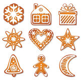 vector gingerbread cookies Stock Photos